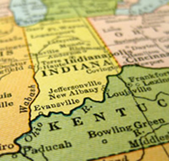 Similiar Map Of Southern Indiana And Kentucky Keywords